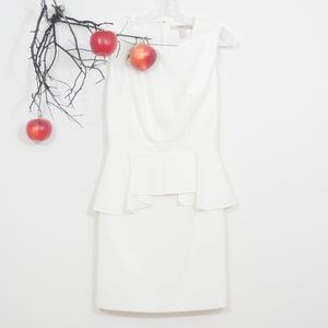 Forever 21 white cocktail dress with ruffles